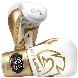 Rival Boxing RS100 Pro Sparring Boxing Gloves - White/Gold