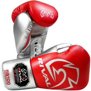 Rival Boxing RS100 Pro Sparring Boxing Gloves - Red/Silver
