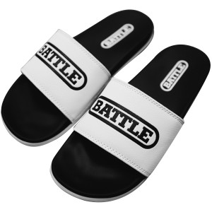 Battle Sports Science Slides 2.0 Footwear - White/Black