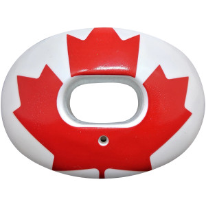 Battle Sports Science Canadian Leaf Oxygen Lip Protector Mouthguard - White/Red