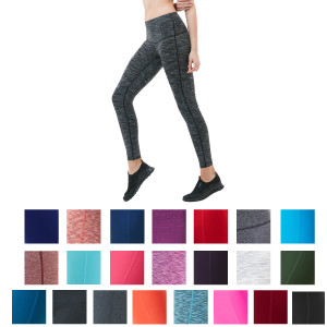 TSLA Tesla FYP42 Women's High-Waisted Ultra-Stretch Tummy Control Yoga Pants
