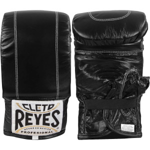 Cleto Reyes Leather Boxing Bag Gloves - Black