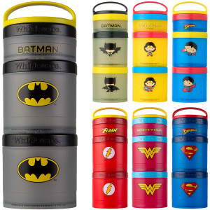 Whiskware Justice League Stackable Snack Pack Containers