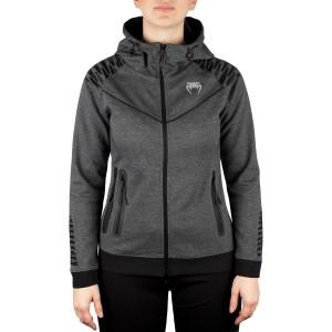 Venum Women's Laser Thermal Zip-Up Hoodie - Dark Heather Gray