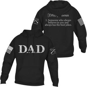 Grunt Style Dad Defined Pullover Hoodie - Black