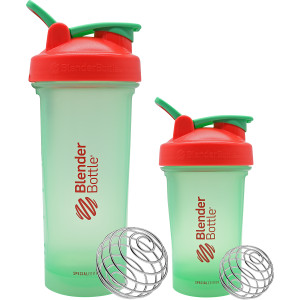 Blender Bottle Special Edition Classic SpoutGuard Shaker - Holly Jolly
