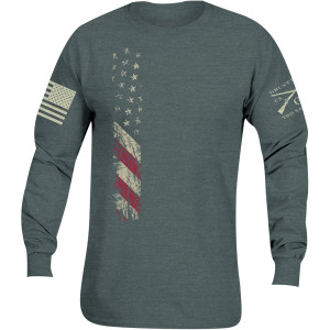 Grunt Style True Colors Long Sleeve T-Shirt - Heather Blue
