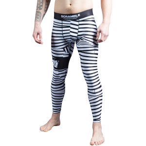 Scramble Dazzle Camo MMA Grappling Spats - Black/White