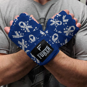 """Forza Sports 180"""" Mexican Style Boxing and MMA Handwraps - Autism Awareness Blue"""