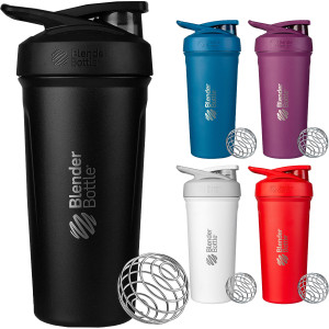Blender Bottle Strada 24 oz. Insulated Stainless Steel Shaker Cup with Loop Top