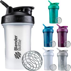 Blender Bottle Classic 20 oz. SpoutGuard Shaker Cup with Loop Top