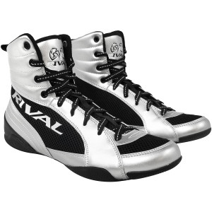 RIVAL Boxing RSX-Guerrero Deluxe Mid-Top Boxing Boots - Silver