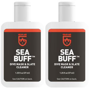 Gear Aid Sea Buff 1.25 oz. Water Sports Dive Mask and Slate Pre-Cleaner - 2-Pack