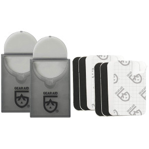 """Gear Aid Tenacious Tape 1.5"""" x 2.5"""" No-Sew Peel and Stick Mini Patches - 2-Pack"""