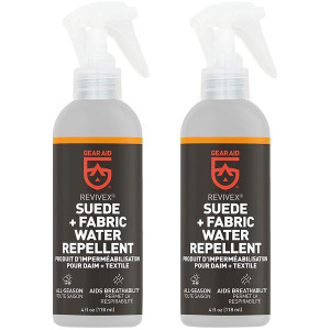 Gear Aid Revivex 4 oz. Suede and Fabric Footwear Water Repellent - 2-Pack
