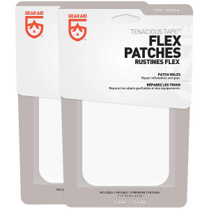"""Gear Aid Tenacious Tape 3"""" x 5"""" No-Sew Peel and Stick Flex Patches - 2-Pack"""