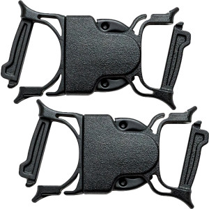 """Gear Aid Dual Snap 1"""" No-Sew Replacement Bar Buckle - 2-Pack"""