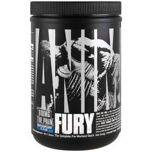 Universal Nutrition Animal Fury Dietary Supplement - Blue Raspberry- 30 Servings