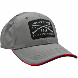 Grunt Style Woven Patch Lightweight Hat - Gray