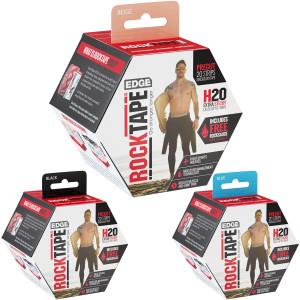 "RockTape H2O Edge 10"" Precut Kinesiology Tape - 20 Strips"