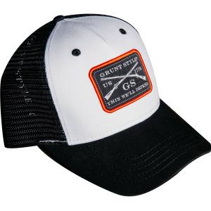 Grunt Style Woven Label Trucker Hat - Black