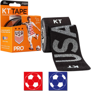 """KT Tape Pro 10"""" Precut USA Rose Lavelle Kinesiology Sports Roll - 20 Strips"""