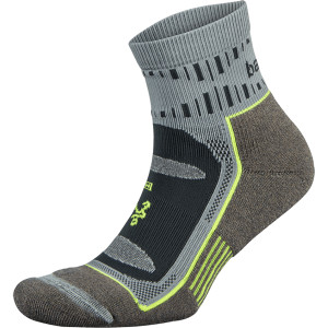 Balega Blister Resist Quarter Length Running Socks - Mink/Gray