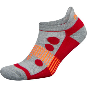 Balega Kids Hidden Cool 2 No Show Running Socks - Midgray/Red