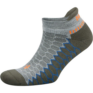 Balega Silver No Show Running Socks - Midgray/Green Pepper