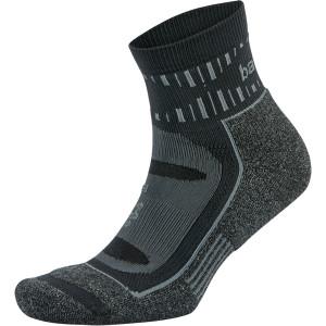 Balega Blister Resist Quarter Length Running Socks - Gray/Black
