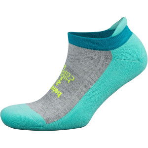 Balega Hidden Comfort No Show Running Socks - Light Aqua/Midgray