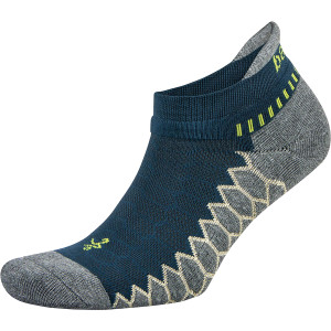 Balega Silver No Show Running Socks - Legion Blue/Gray