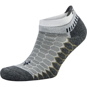 Balega Silver No Show Running Socks - White/Gray
