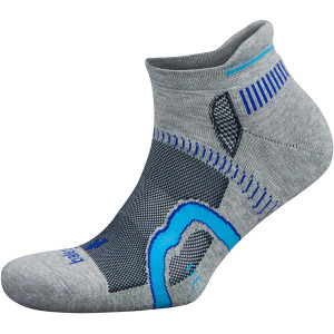 Balega Hidden Contour No Show Running Socks - Midgray/Ink