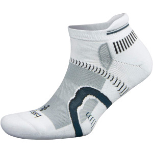 Balega Hidden Contour No Show Running Socks - White/Gray