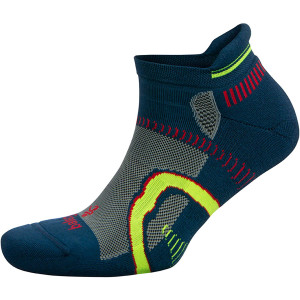 Balega Hidden Contour No Show Running Socks - Legion Blue/Midgray