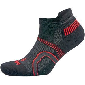 Balega Hidden Contour No Show Running Socks - Black/Fog