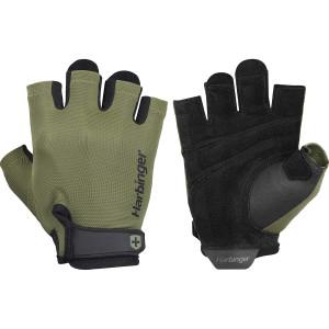 Harbinger Power Weight Lifting Gloves - Black/Green
