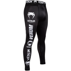 Venum Logos MMA Compression Spats - Black/White