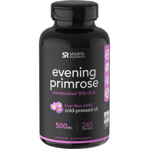 Sports Research Evening Primrose Oil Dietary Supplement - 240 Softgels
