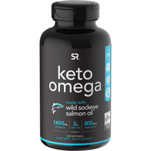 Sports Research Keto Omega Dietary Supplement - 120 Softgels