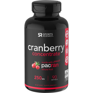 Sports Research Cranberry Concentrate Dietary Supplement - 90 Softgels