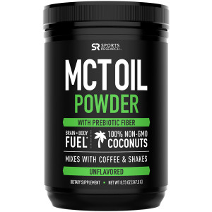 Sports Research MCT Oil Powder Dietary Supplement - 30 Servings - Unflavored