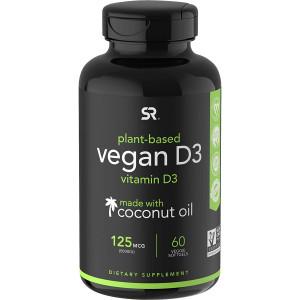 Sports Research Vegan Vitamin D3 Dietary Supplement - 60 Softgels