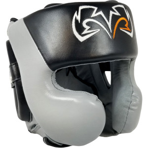 Rival Boxing RHG30 Mexican Style Cheek Protector Training Headgear - Black/Gray