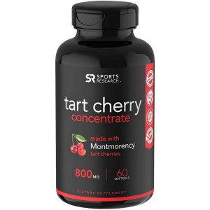 Sports Research Tart Cherry Concentrate Dietary Supplement - 60 Softgels