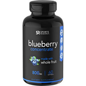 Sports Research Blueberry Concentrate Dietary Supplement - 60 Softgels
