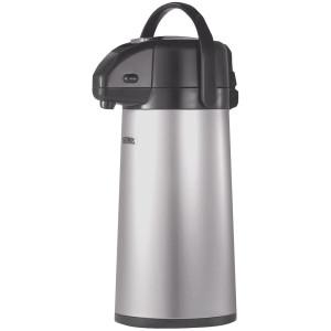 Thermos 2 Quart Glass Vacuum Insulated Pump Pot - Gray Metallic