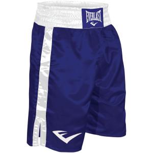Everlast Standard Top of Knee Boxing Trunks - Blue/White