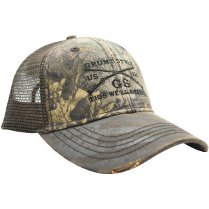 Grunt Style Realtree Xtra Embroidered Logo Flag Hat - Brown
